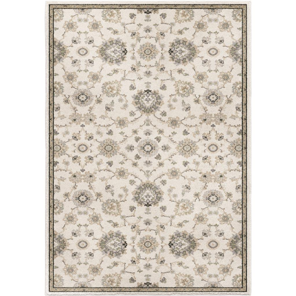 "9013 5X8 MANOR SAROUK SOFT WHITE 5'3"" x 7'6"" Riverstone"
