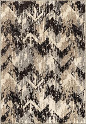 "4303 5x8 Distressed Chevron Grey 5'3"" x  7'6"" American Heritage"