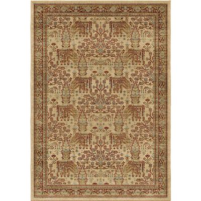 "8208 5X8 Persian Forest Bisque 5'3""x7'6"" Aria"