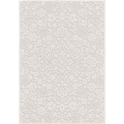 "4700 5x8 Cottage Floral Natural 5'2"" x  7'6"" Boucle'"