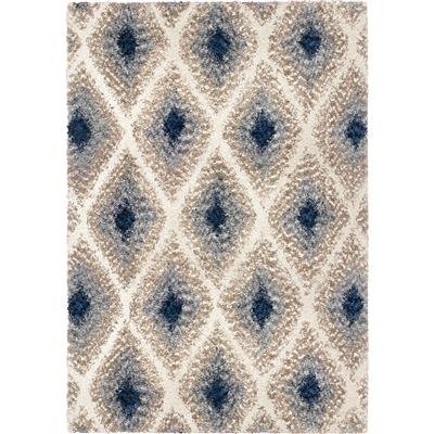 "JA09 5x8 IKAT DIAMOND MULTI 5'3"" x 7'6"""