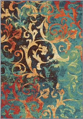 "2818 7x10 Nepal Scroll Multi 6'7"" x 9'8"" Spoleto"