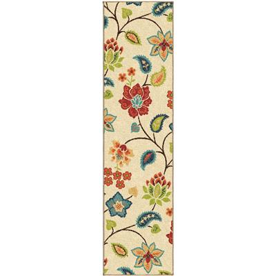 "2338 2x8 Full Bloom Ivory 1'10"" x 7'5"" Veranda"