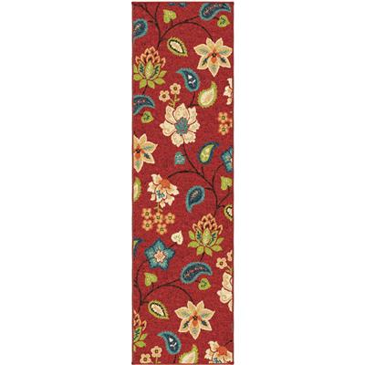"2313 2X8 Garden Chintz Red 2'3"" x 8' Veranda"