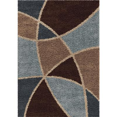 "1730 5x8 Abstract Duchess Brown 5'3"" x 7'6"" Shag-Ri-La"