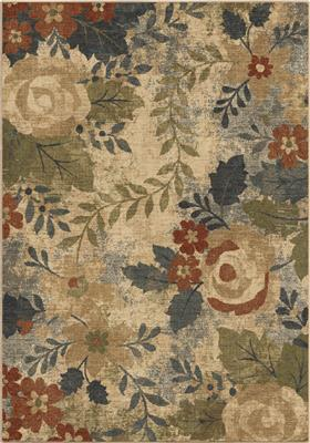 "8113 5X8 ""Garden Medley Cream 5'3""""x7'6"""""" Marrakesh"